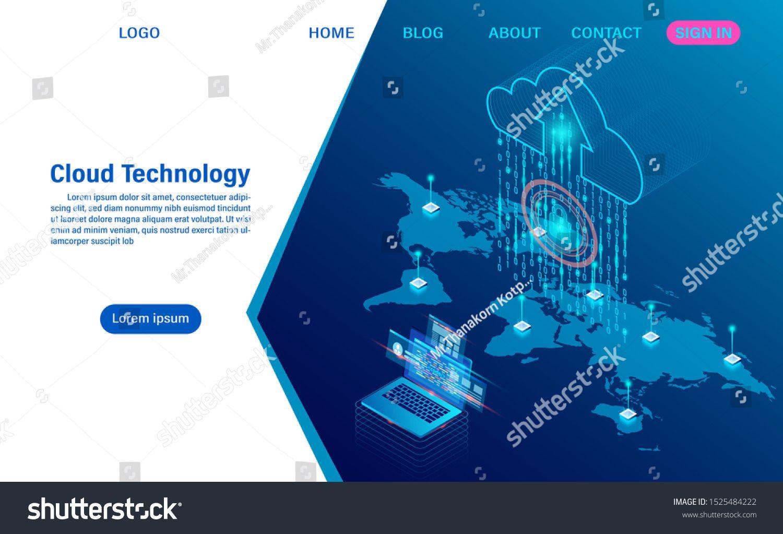 Cloud computing technology concept digital service or app