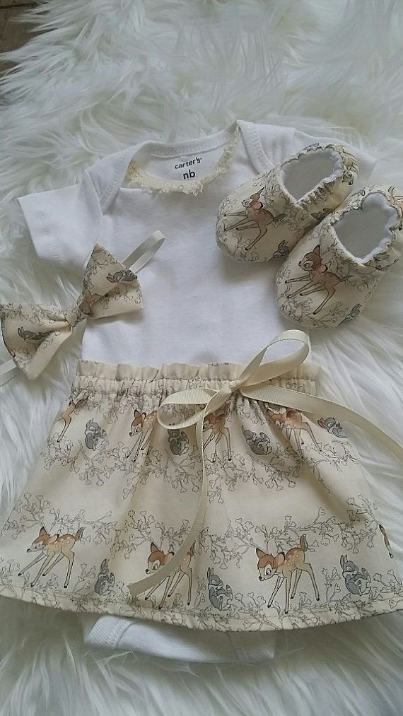 d58e91b24e9 Bambi Carter s Onesie Baby Dress with matching headband (crib shoes sold  separately)