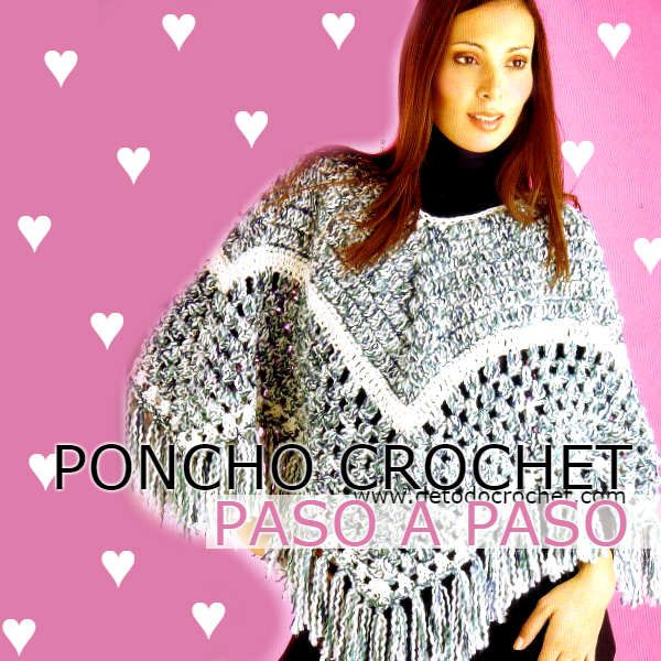 poncho crochet patrones … | Moda Crochet | Pinterest | Ponchos, Chal ...