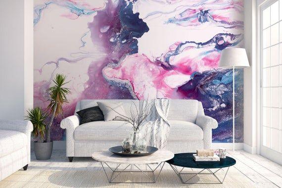 Maroon/Cream easy to remove wallpaper Removable