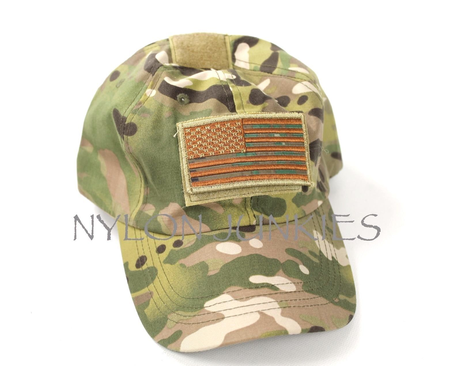NEW Multicam Baseball Cap Operator Hat US Flag Velcro Patch Hat OCP ... d24b455f148