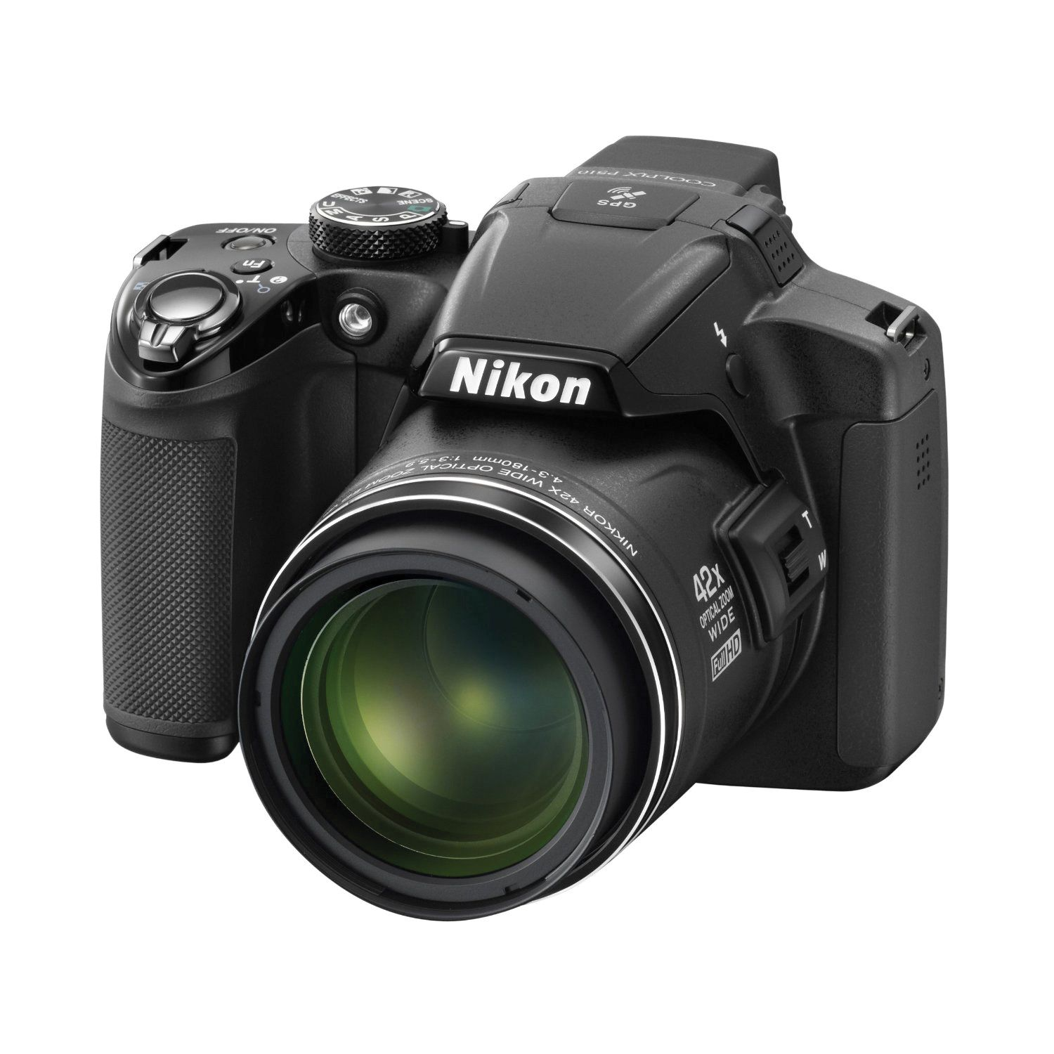 "Nikon Coolpix P510 16.1 Megapixels Digital  Camera, 42x Optical Zoom, 3.0"" LCD Display, Full  HD Movie with Stereo Sound, Built-in GPS, $396.95"