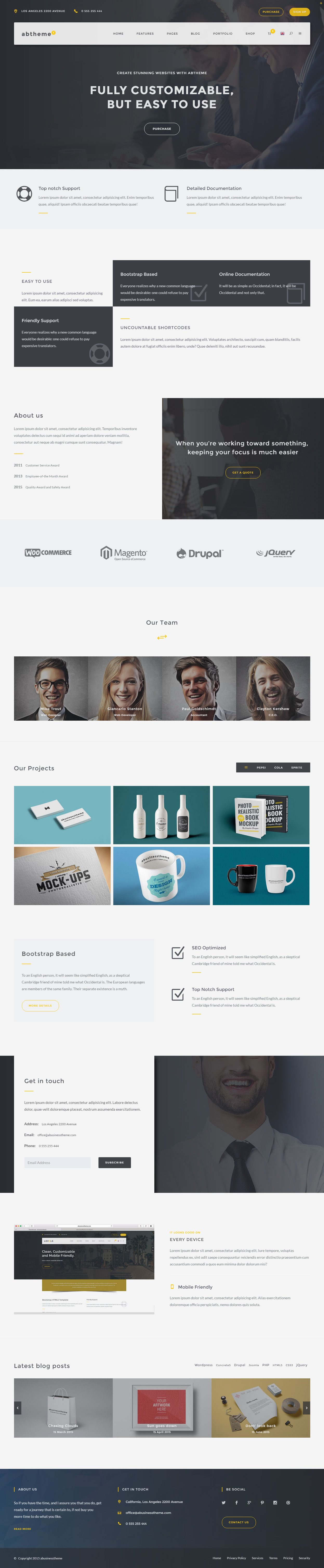 ABT is Premium Responsive Retina Parallax Multipurpose #template ...