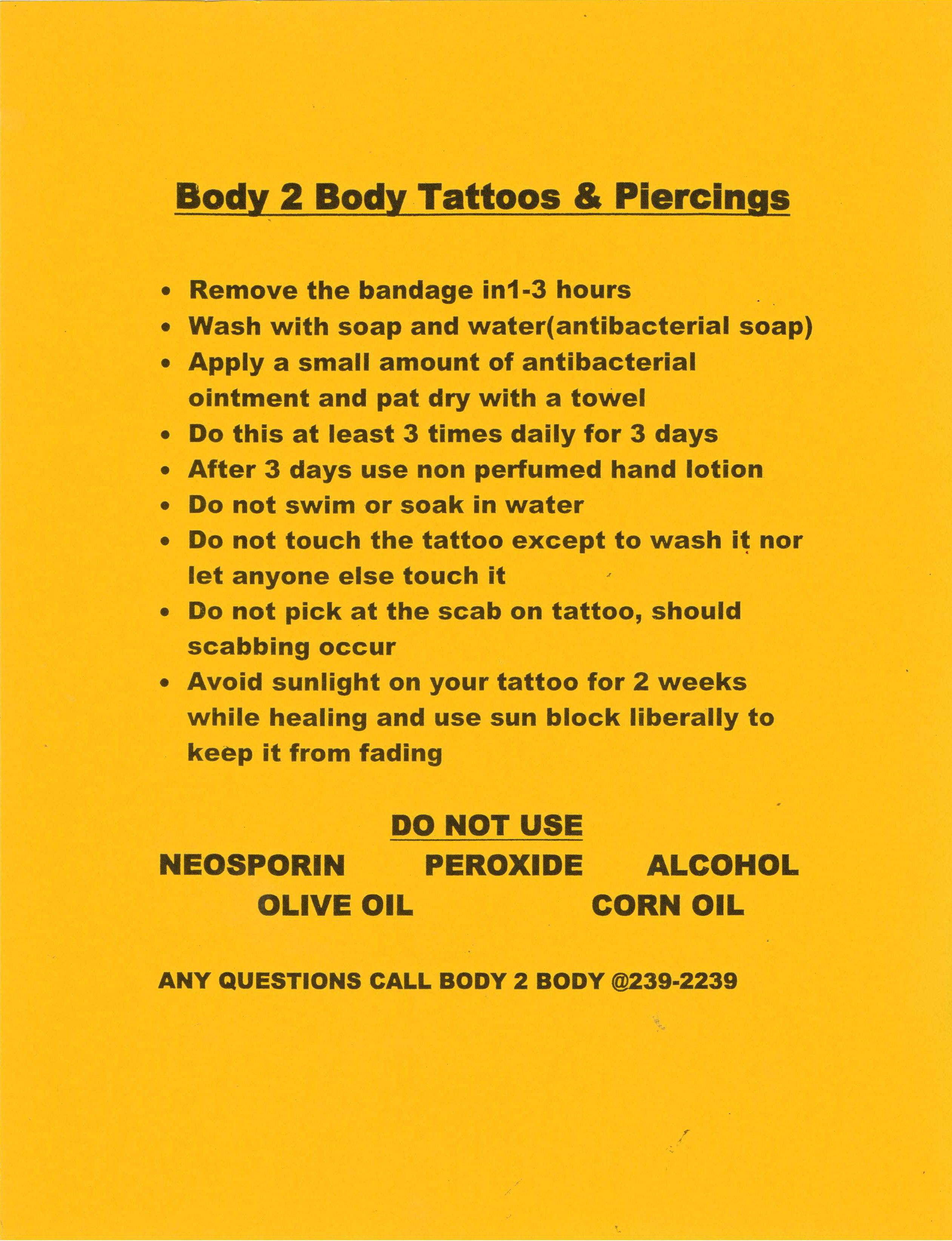 Tattoo Aftercare Instructions Tattoos Pinterest Tatuajes