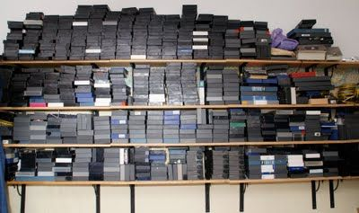 The good old day when there was a shelf with stacks of tape.