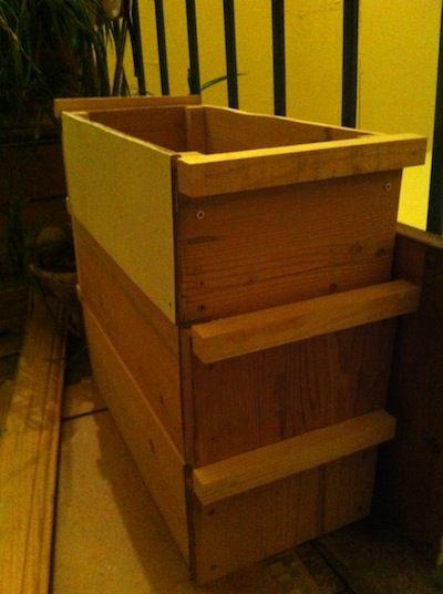 lombricomposteur-bois-recup Garden ❀ Dans mon jardin Pinterest - fabriquer sa cuisine en bois