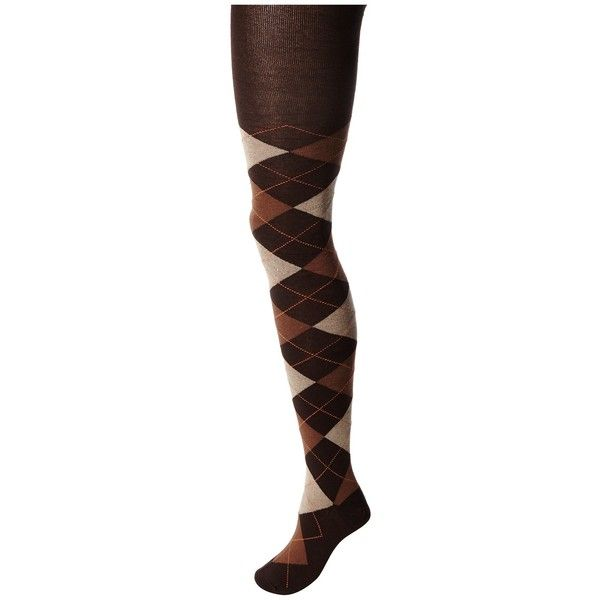 78d255d822e11 HUE Argyle Sweater Tights Hose ($20) ❤ liked on Polyvore featuring intimates,  hosiery, tights, hue pantyhose, print tights, print stockings, argyle tights  ...