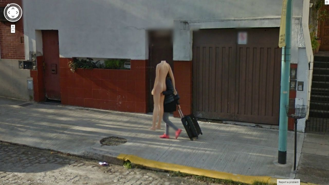 Google Street View Catches Naked Florida Woman