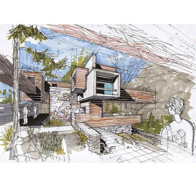 architectural hand drawings. Plain Hand Architectural Sketches Hand Drawings Architecture Intended Drawings