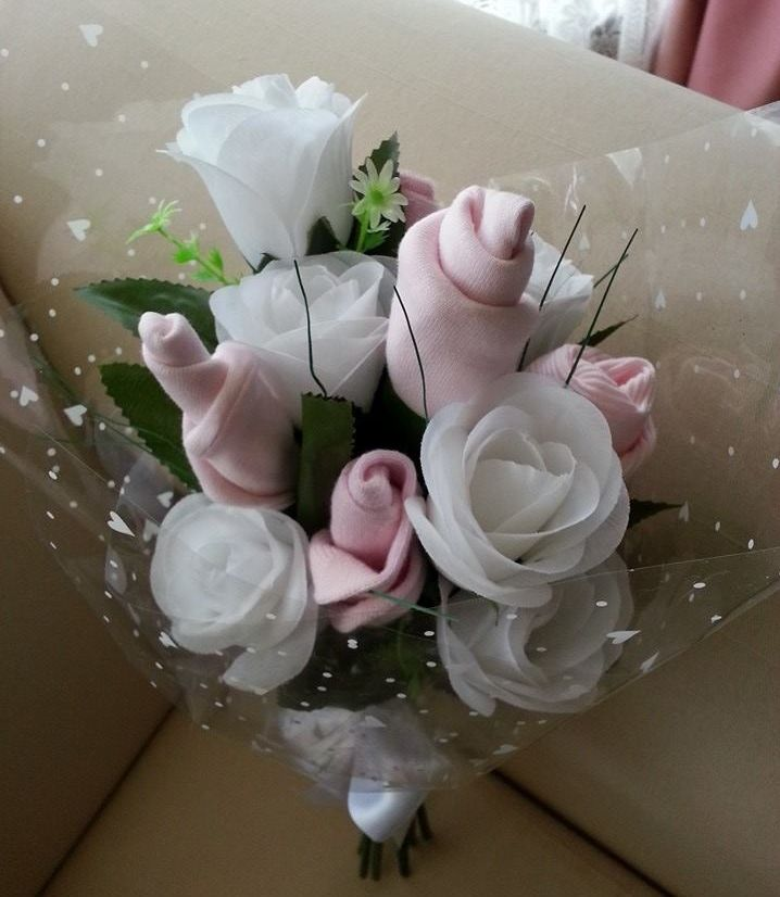3 baby bouquet for girl 3 shalea design baby shower new baby 3 baby bouquet for girl 3 shalea design baby shower new baby gift 2 x pink baby wash clothes 1 x pink baby singlet 00 1 x pink baby bonnet negle Gallery