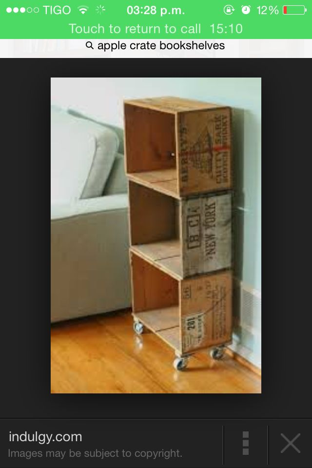 Apple Crate Bookshelves