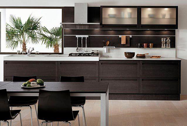 cocinas lineales3 Casa Pinterest Cocinas, Cocina lineal y - cocinas elegantes