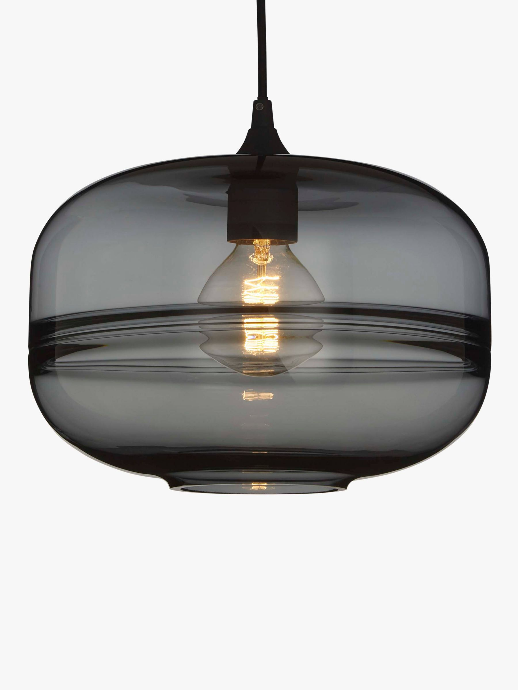 John Lewis & Partners Semper Smoked Glass Ceiling Light ...