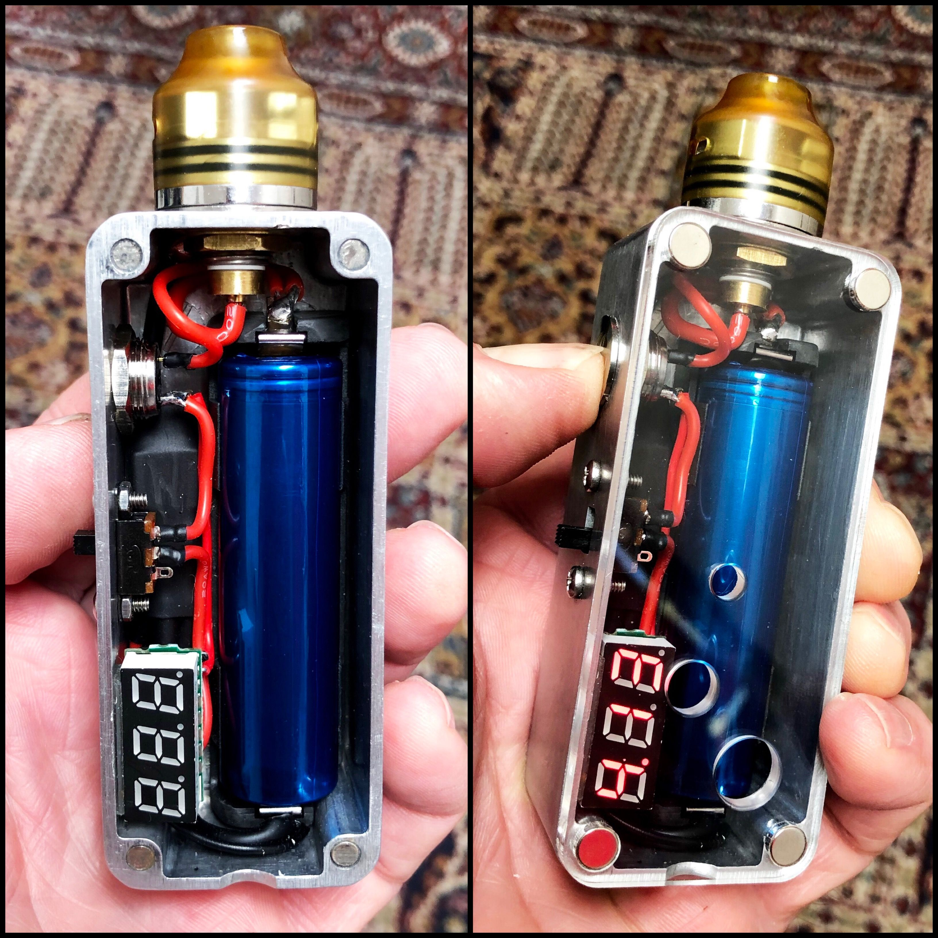 boxmods diyboxmod 1590a single 18650 fdv v3 510 mosfet with kill switch  [ 3264 x 3264 Pixel ]