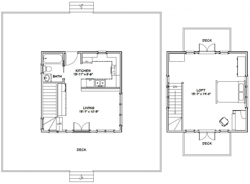 Floor Plan For The 20 X 20 Tiny House Small House Floor Plans