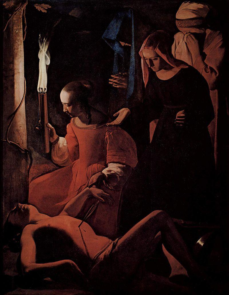 Saint Sebastian Baroque Painting La Tour Baroque Art