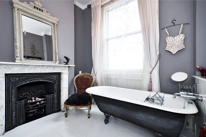 20 Exquisite Bathrooms That Unleash The Beauty Of Black: Restored Victorian House