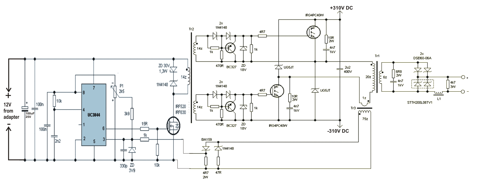 medium resolution of hobby electronics circuits smps welding inverter circuit