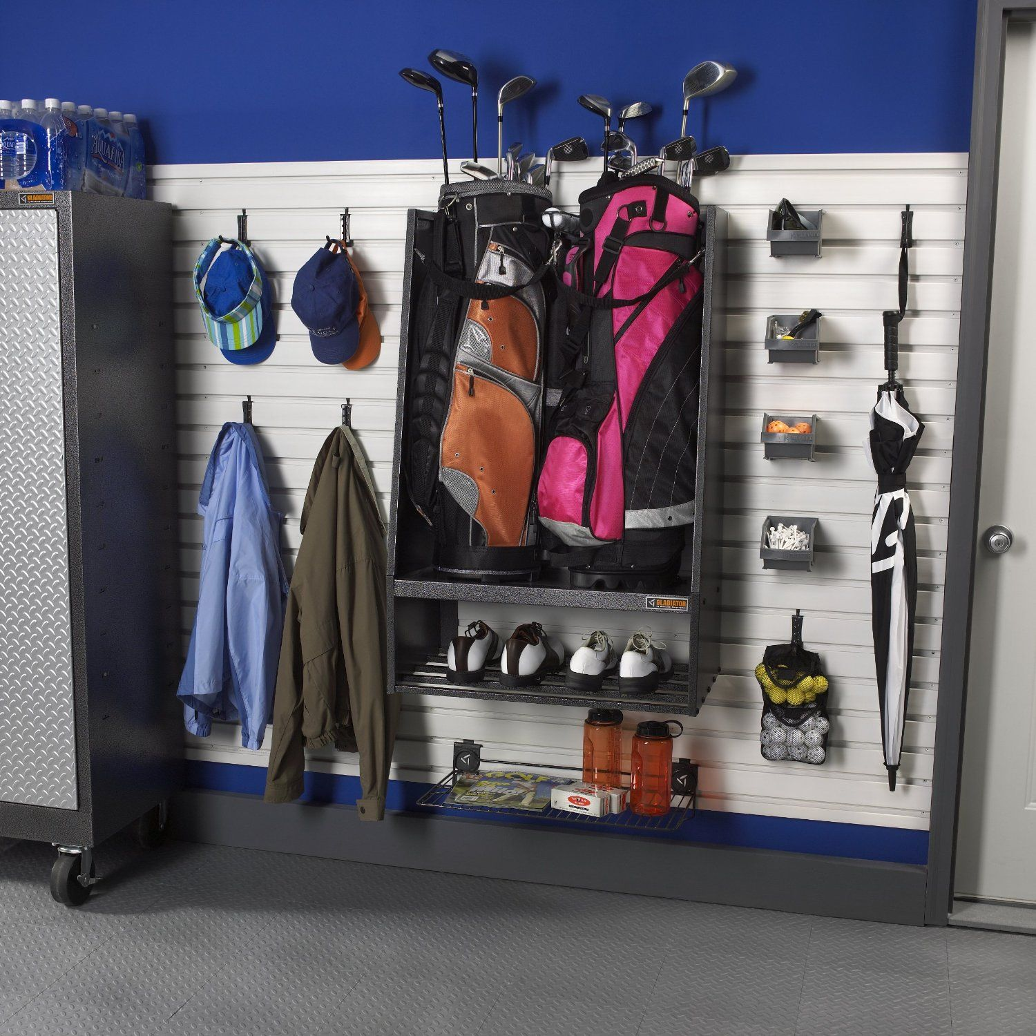 Charming Made From Heavy Duty Steel This Garageworks Golf Caddy By Gladiator Can  Easily Hold Two Oversized