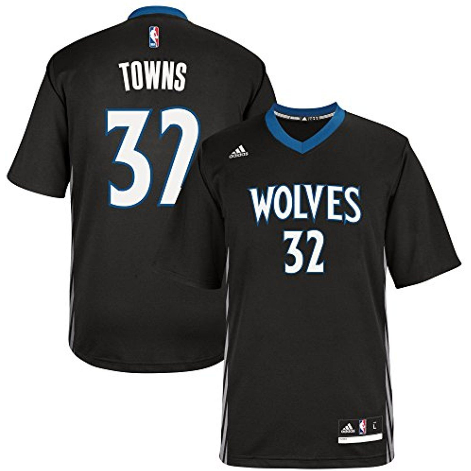 Karl Anthony Towns Minnesota Timberwolves Black Youth Adidas