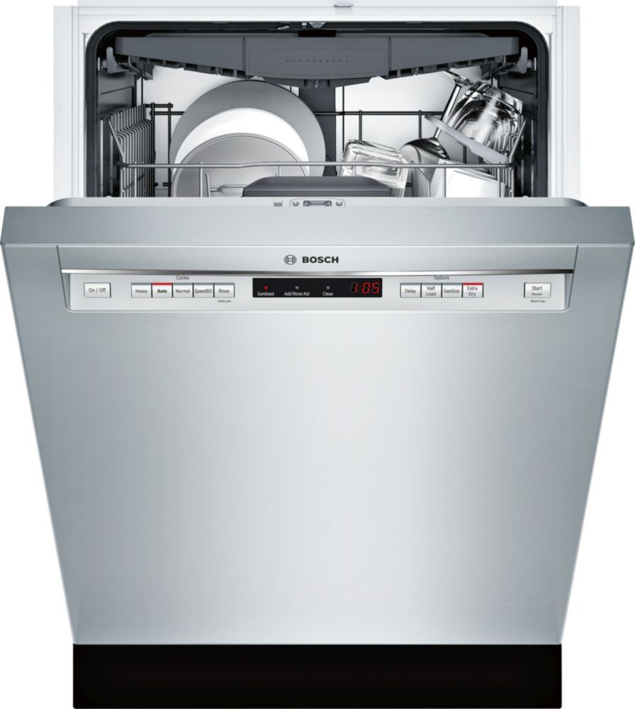 23 5 Inch 44 Dba Front Control Dishwasher In Stainless Steel With