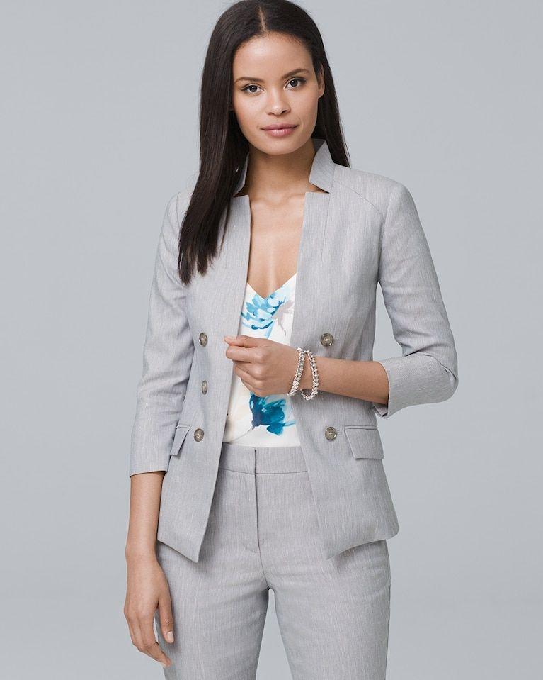 c6dbb631a17 Women s Linen-Blend Blazer Jacket by White House Black Market ...