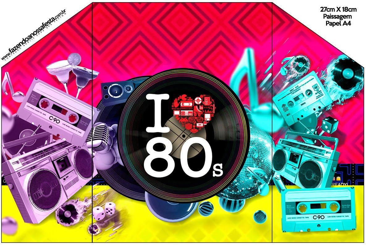 40 Imágenes Abstractas Para Descargar E Imprimir: Años 80: Invitaciones Para Imprimir Gratis.