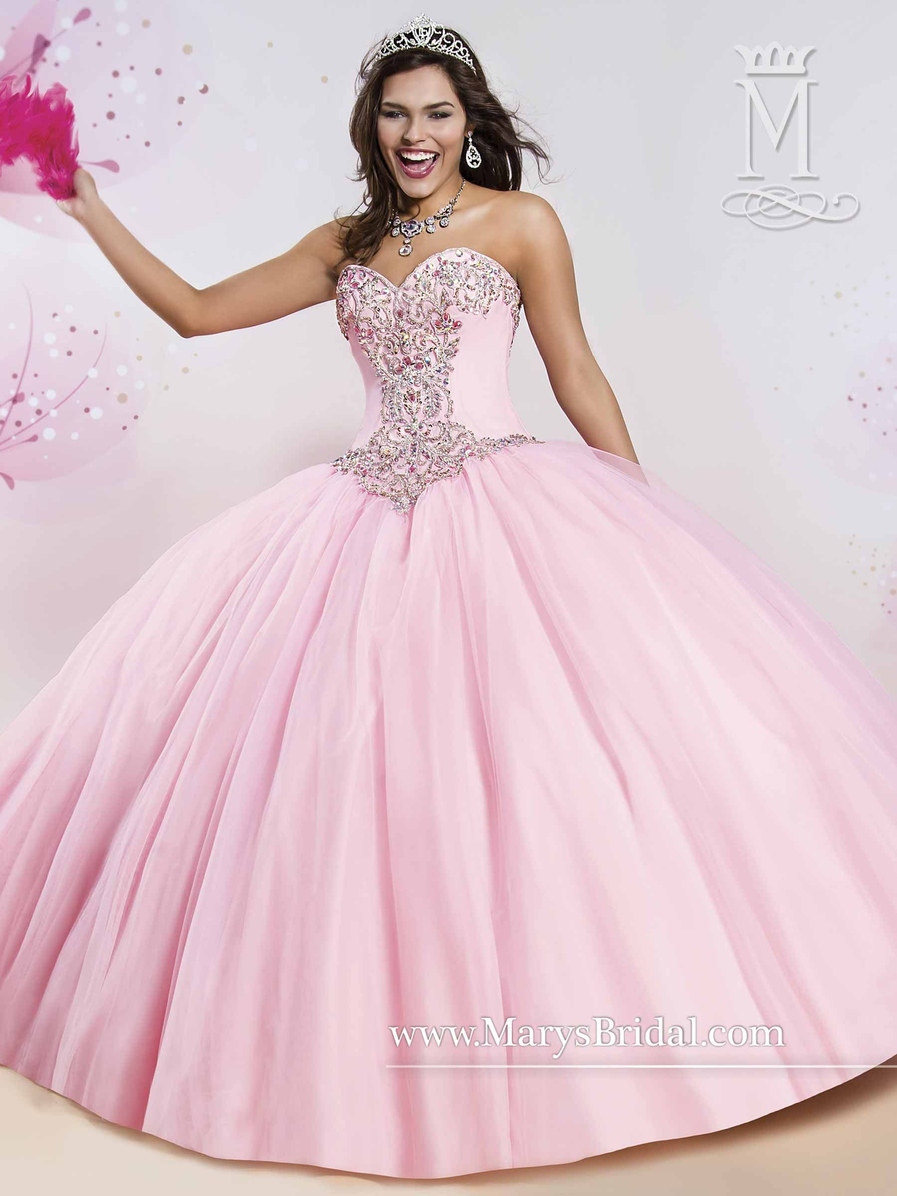 6efe42270 Mary s Bridal pink quinceañera dress