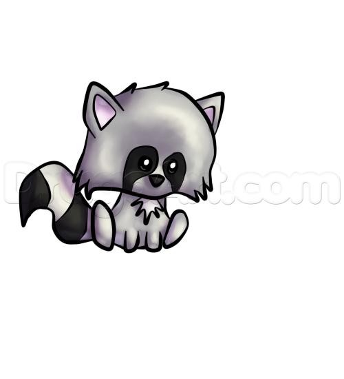 How To Draw A Cute Raccoon Step By Step Forest Animals Animals Free Online Drawing Tutorial Added By Chipmeow Cute Raccoon Raccoon Drawing Cute Drawings