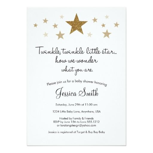 twinkle twinkle baby shower invitation baby shower