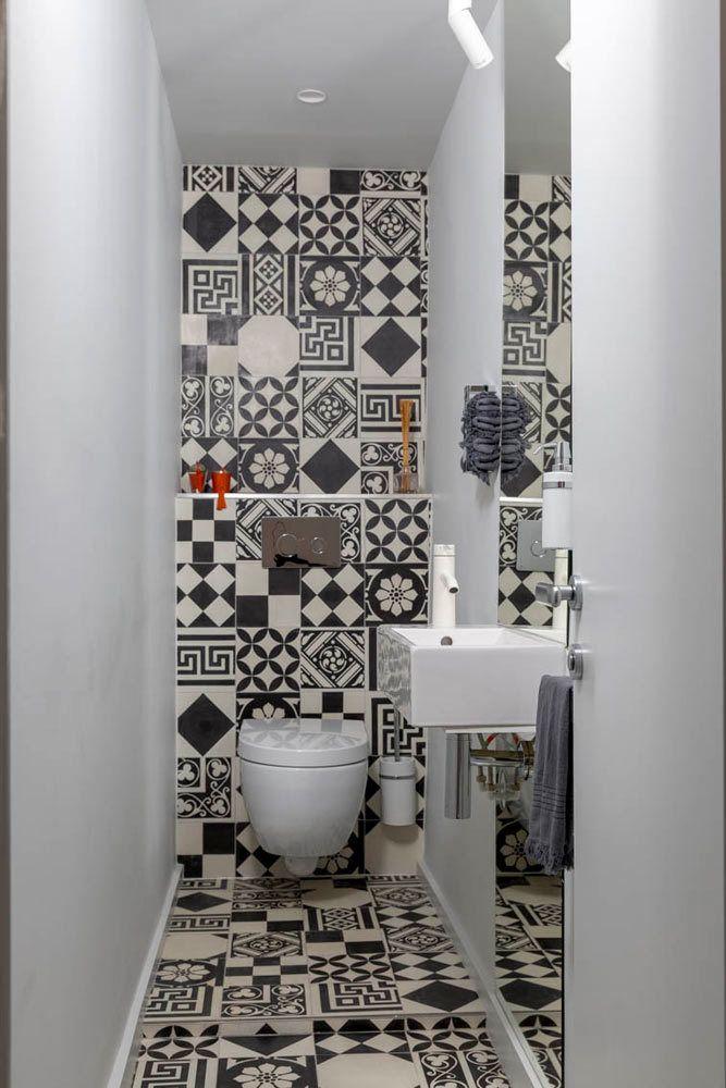 Ba o chico bathroom pinterest ba os microcemento y ba o for Bano chico moderno