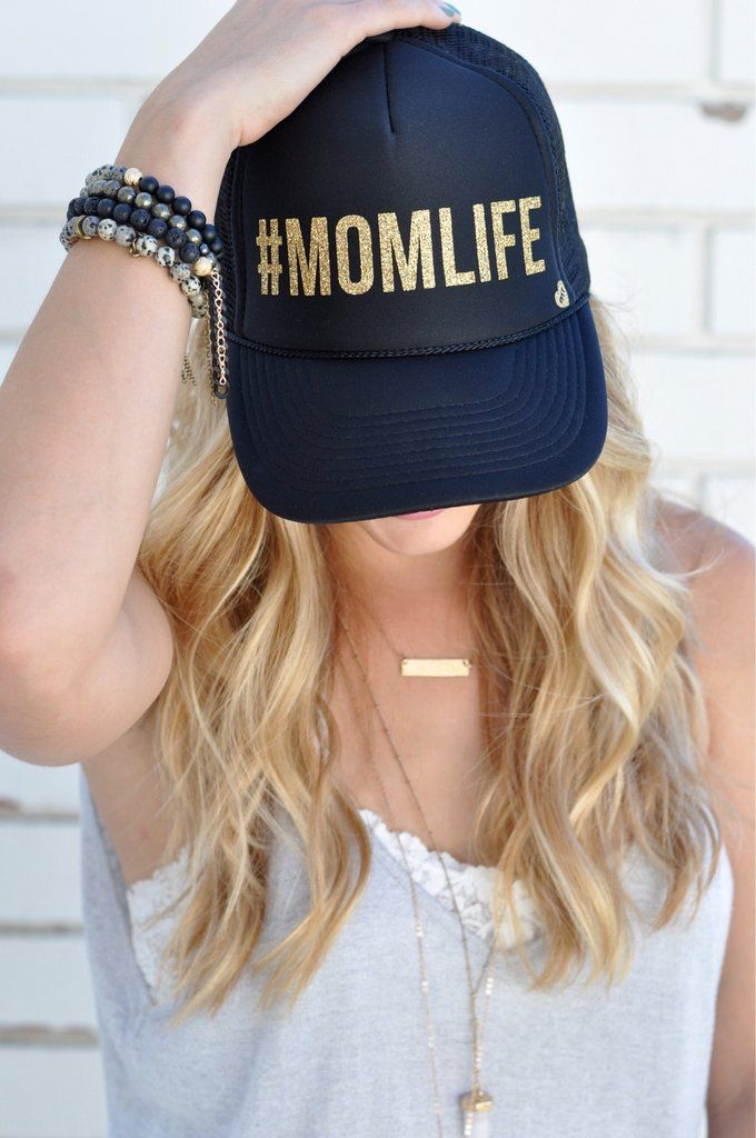 dc773cbf0 MOMLIFE by Mother Trucker in 2019 | KC | Gold hats, Hats for women, Hats