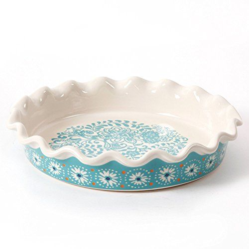 "The Pioneer Woman Flea Market Decor 9/"" Ruffle Top Pie Plate /& 2.3-Quart Bakeware"