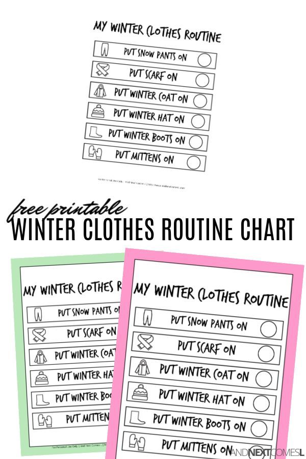 Free printable winter routine chart for kids visualschedule autism freeprintables also best seasonal activities  crafts images in day rh pinterest
