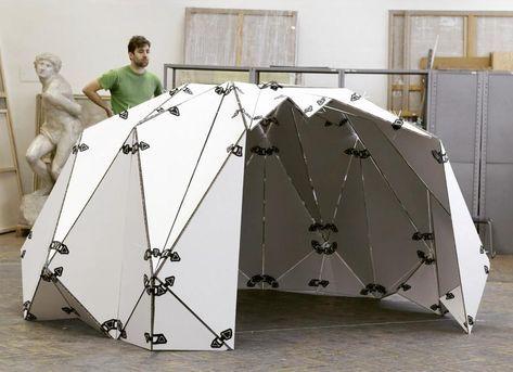 """Photo of Kubo Novak auf Instagram: """"Dieser faltbare Pavillon wurde während meines Workshops an der Fakultät für Architektur der Technischen Universität Brünn gebaut. Es wird registriert für … """""""