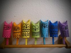 Paper towel roll art - these little owls are so cute!