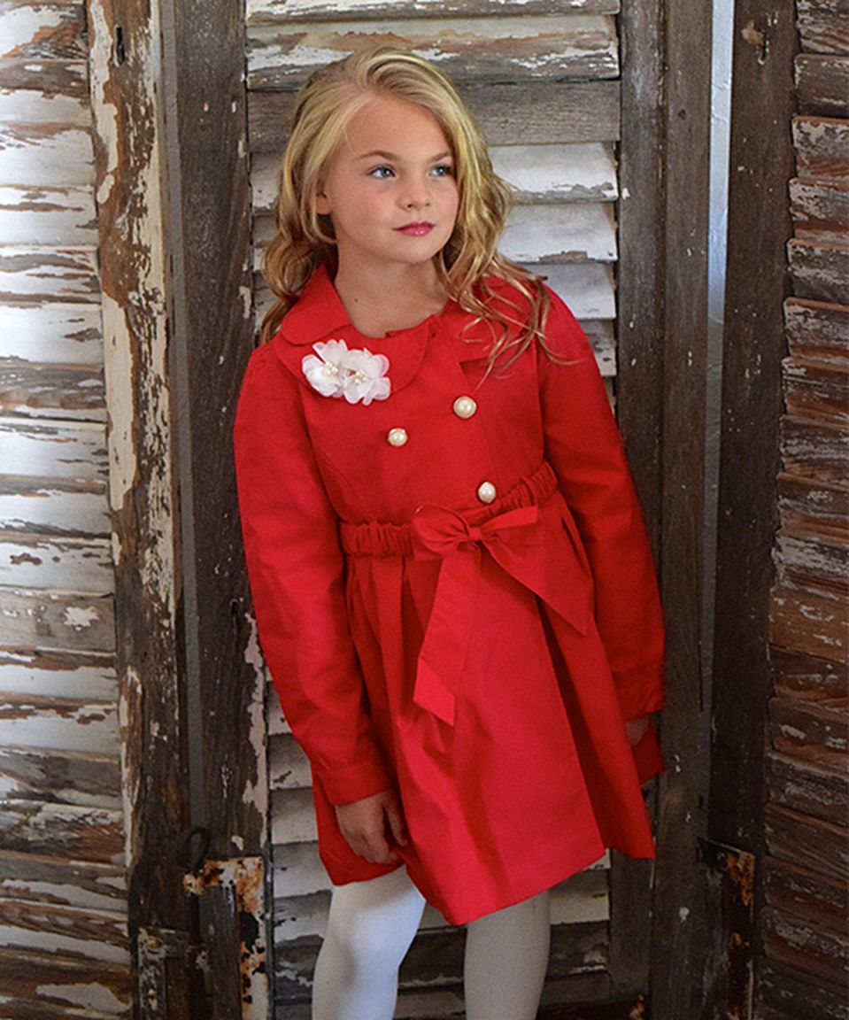 e913e234280c Loving this Trish Scully Child Red Belted Coat - Toddler   Girls on ...