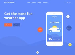 View the Weather Apps Template Details Free website