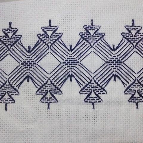 Top Huck Embroidery / Punto Yugoslavo / Swedish Weaving / Bordado  OM98