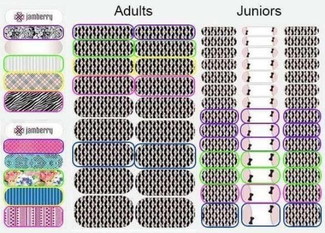 Comparison Of Jamberry Junior And Jamberry Adult Wraps Jamberry