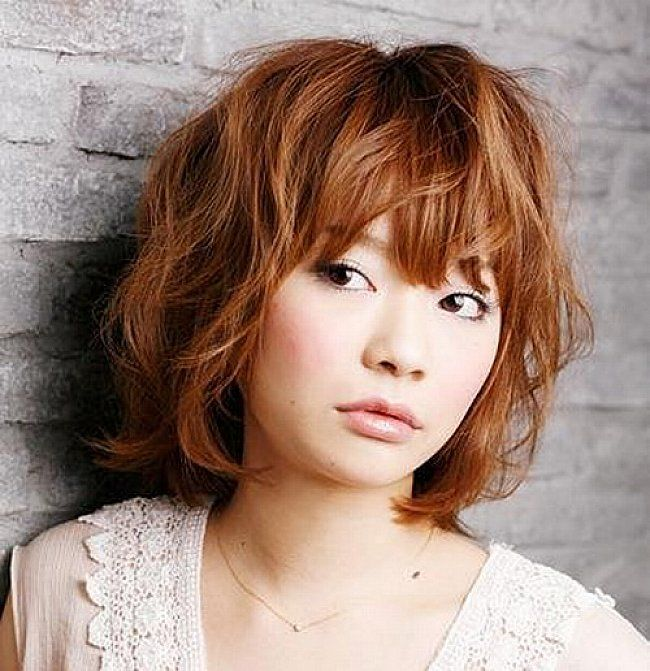Asian Wavy Hairstyles For Long Hair : Asian short layered bob hairstyles with bangs for wavy hair bob