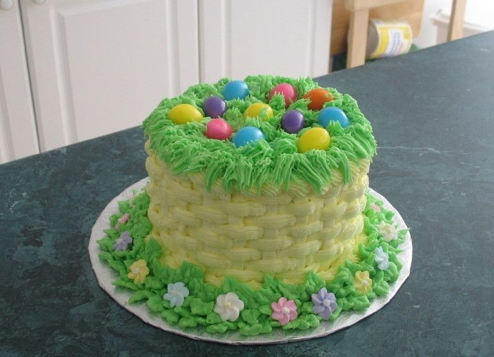 Easter basket cake google search easter cake ideas pinterest easter basket cake google search negle Gallery