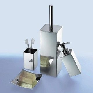 Nemesia Chrome Bathroom Accessory Set Contemporary Spa Bath Accessories London By Plumbonline Bottom Drawer Pinterest