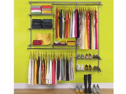 Deluxe Closet Kits | Configurations | Home Free | Closet ...