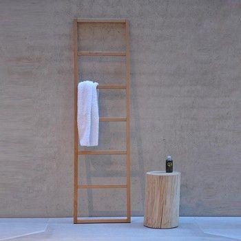 Hip - Porte-serviettes Jan Kurtz Design naturel AmbienteDirect - porte serviette salle de bain design