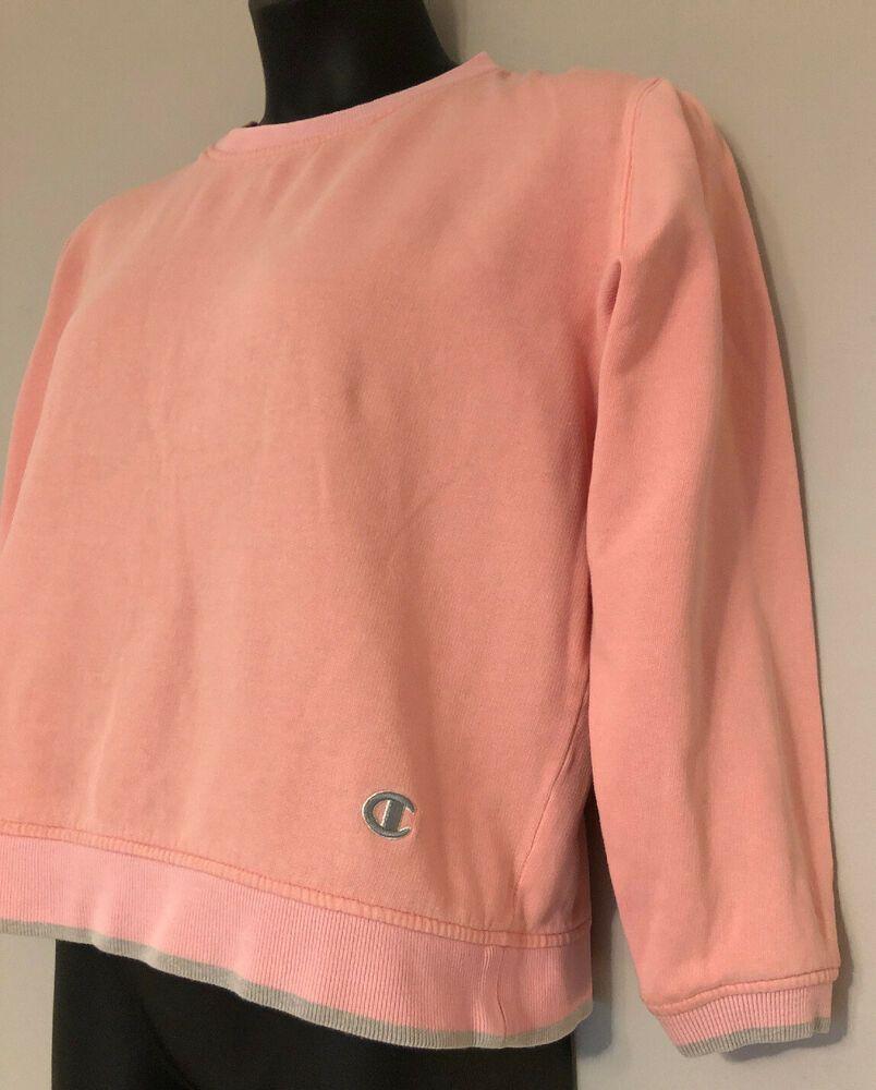 Champion Vintage Women S Cropped Sweatshirt Large Peach Gray Plain Champion Sweatshirt Crop Sweatshirt Pink Crewneck Sweatshirt Plain Sweatshirt [ 1000 x 804 Pixel ]