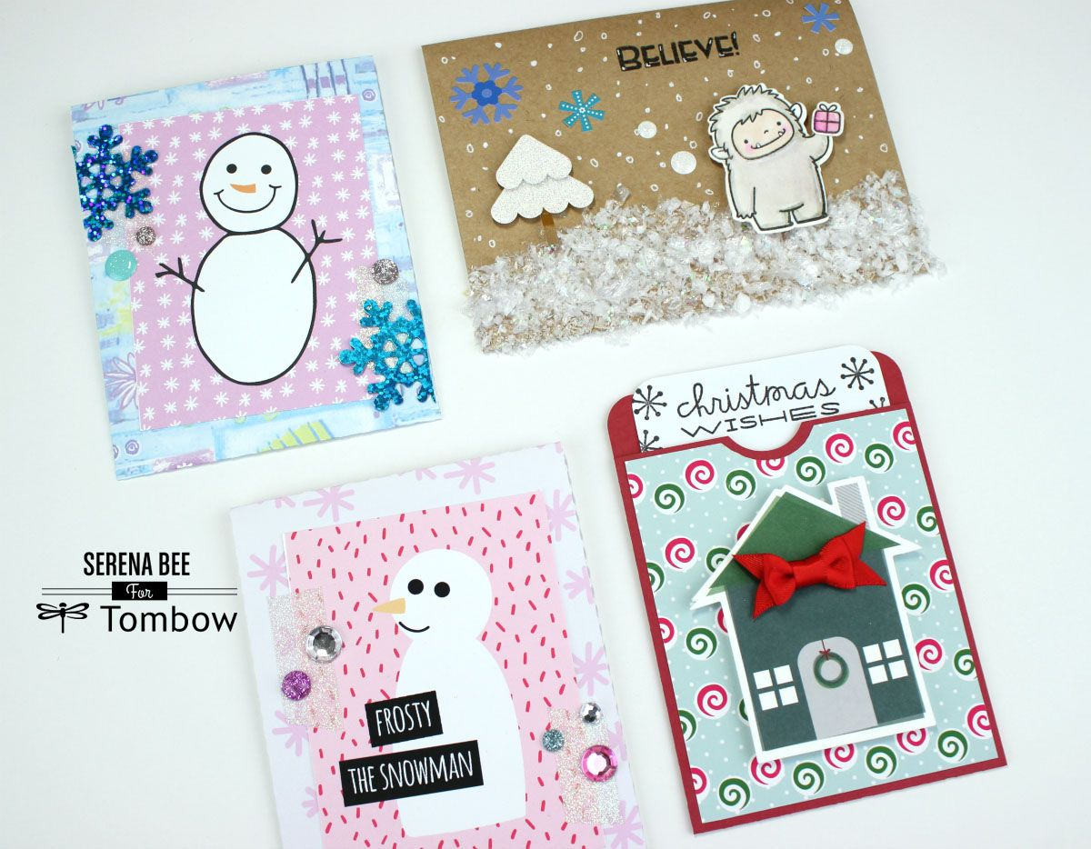 3 Christmas Envelope Card Ideas By Serena Bee
