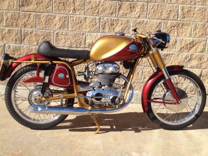 1953 Mondial 200 Sport Vintage Honda Motorcycles Classic Motorcycles Moto Bike