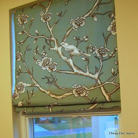 WEL come to my Roman Shade reveal. Thanks to you all I decided to make Roman shades with my blue bird fabric. Now, this fabric has more p... #birdfabric