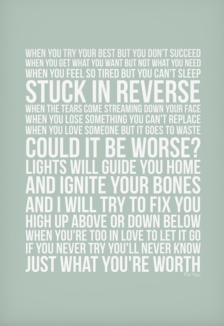 Coldplay - Fix You | Favourite Songs | Pinterest | Coldplay and Songs
